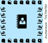 notebook icon  organizer vector ... | Shutterstock .eps vector #731734783