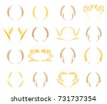hand drawn floral wreath.... | Shutterstock .eps vector #731737354