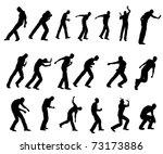 silhouette handling object | Shutterstock . vector #73173886