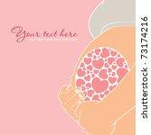 Pregnant Woman Card. Vector...