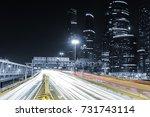skyscraper and transport... | Shutterstock . vector #731743114