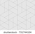 abstract geometric pattern with ... | Shutterstock . vector #731744104