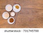 plant alternative milk recipe ... | Shutterstock . vector #731745700