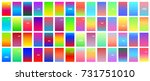 big set of soft color gradients ... | Shutterstock .eps vector #731751010