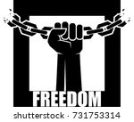 freedom icon. human hands and...   Shutterstock .eps vector #731753314