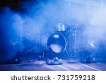 drum set with some cymbals on... | Shutterstock . vector #731759218