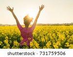 mixed race african american... | Shutterstock . vector #731759506