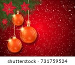 christmas and new year red... | Shutterstock .eps vector #731759524