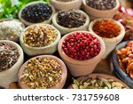 variety of different asian and... | Shutterstock . vector #731759608