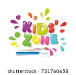 kids zone colorful banner.... | Shutterstock .eps vector #731760658