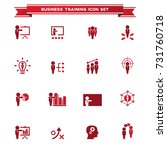 business training icon set | Shutterstock .eps vector #731760718