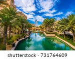panoramic view of water channel ... | Shutterstock . vector #731764609