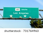 Freeway Exit Sign On U.s. Rout...