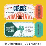 set of tickets to the circus... | Shutterstock .eps vector #731765464