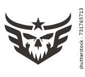 head skull wing star | Shutterstock .eps vector #731765713