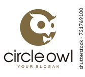 circle owl icon | Shutterstock .eps vector #731769100