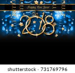 2018 happy new year background... | Shutterstock .eps vector #731769796