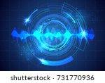 abstract hud design  technology ... | Shutterstock .eps vector #731770936