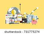financial analysis  accounting  ... | Shutterstock .eps vector #731775274