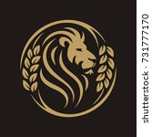 head lion circle grain | Shutterstock .eps vector #731777170