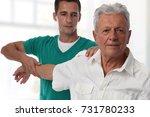 chiropractic back adjustment ...   Shutterstock . vector #731780233