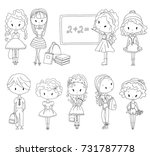 coloring book pupil. adult...   Shutterstock . vector #731787778
