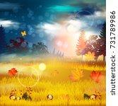 autumn background.   Shutterstock .eps vector #731789986