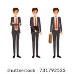 business man character design....   Shutterstock .eps vector #731792533