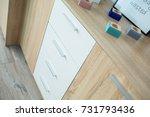 light wooden furniture in... | Shutterstock . vector #731793436