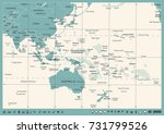 east asia and oceania map  ... | Shutterstock .eps vector #731799526