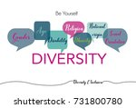 diversity and inclusion word... | Shutterstock .eps vector #731800780