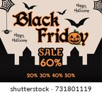 halloween black friday theme... | Shutterstock . vector #731801119