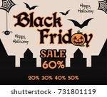 halloween black friday theme...   Shutterstock . vector #731801119