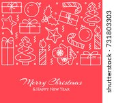 christmas and new year banner... | Shutterstock .eps vector #731803303