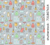 cleaning outline vector... | Shutterstock .eps vector #731807614