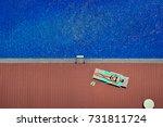 enjoying suntan. vacation... | Shutterstock . vector #731811724