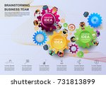 business concepts for analysis... | Shutterstock .eps vector #731813899