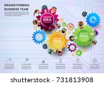 business concepts for analysis... | Shutterstock .eps vector #731813908