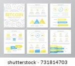 set of colored digital money... | Shutterstock .eps vector #731814703