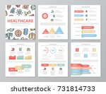 set of colored medical and... | Shutterstock .eps vector #731814733