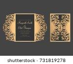 laser cut bellyband template.... | Shutterstock .eps vector #731819278