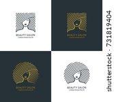female line style illustration. ... | Shutterstock .eps vector #731819404