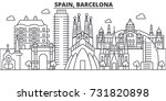 spain  barcelona architecture... | Shutterstock .eps vector #731820898
