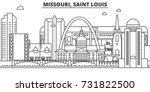 missouri  saint louis... | Shutterstock .eps vector #731822500