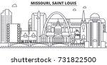 missouri  saint louis... | Shutterstock .eps vector #731822500