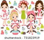 vector spa set. set includes... | Shutterstock .eps vector #731823919