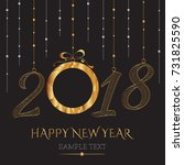 happy new year card with the... | Shutterstock .eps vector #731825590