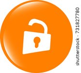 padlock icon web sign. rounded... | Shutterstock . vector #731827780