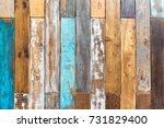 vintage color wooden background ... | Shutterstock . vector #731829400