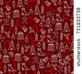 christmas seamless texture with ... | Shutterstock .eps vector #731833738